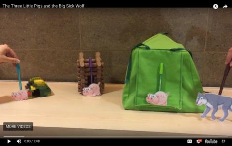 a Three little pigs